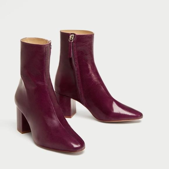 Zara Shoes | Zara Burgundy Maroon